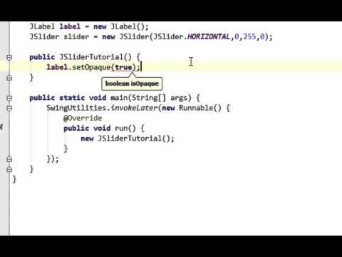 Java swing GUI tutorial #25: JSlider and ChangeListener