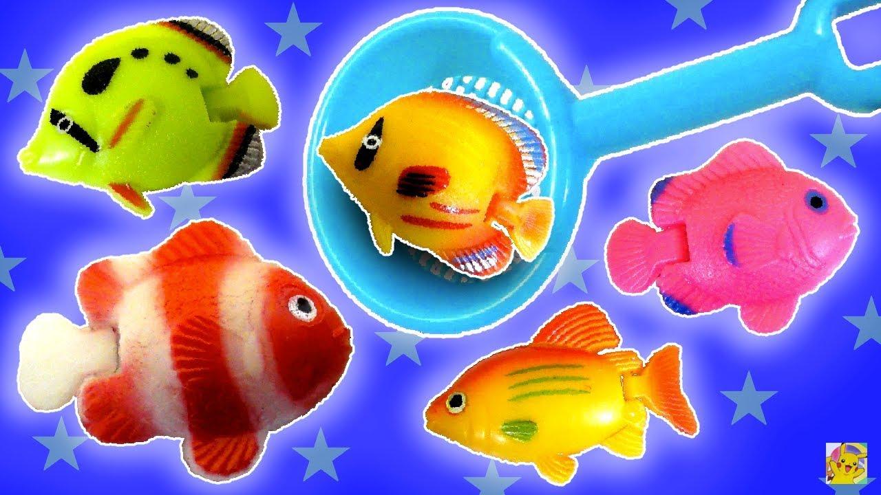 Pescaria De Peixinhos Coloridos No Aquario Brinquedos Do Japao