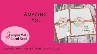"""Amazing You"" 2018 Sale a Bration stamp set."