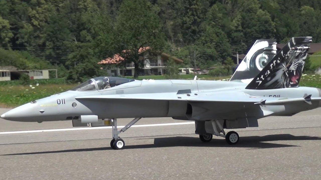 FA 18 SWISS AIR FORCE SCALE RC TURBINE MODEL JET MEIRINGEN AFB