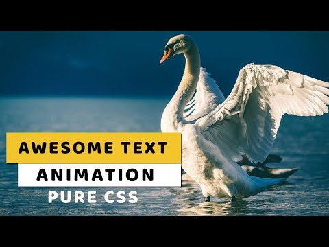Awesome Text Animation Just by Using HTML & CSS