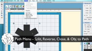 Sure Cuts A Lot 3 - Path Menu - Split, Close, Object to Path, & Reverse Path