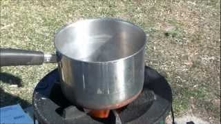 StoveTec Science: StoveTec Combustion Efficiency Demo and 2 Cup Boil Test