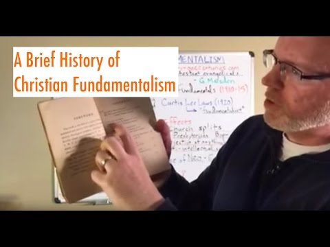 A Brief History of Christian Fundamentalism (Periscope Video)