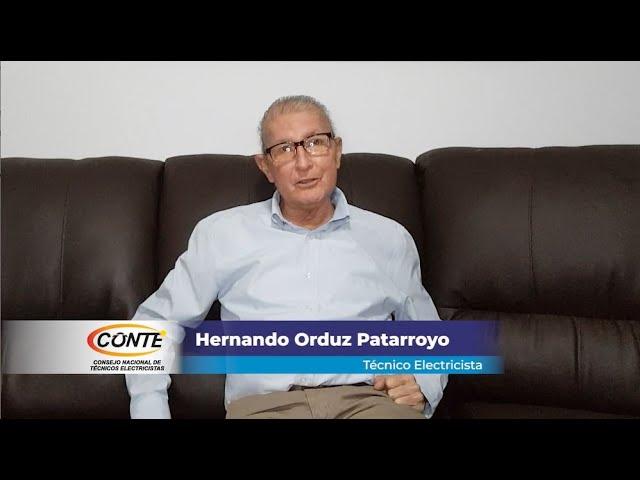 Hernando Orduz Patarroyo, Técnico Electricista de Colombia