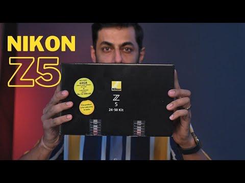 Nikon Z5 Unboxing Hindi   Nikkor Z 24-50mm f/4-6.3 Lens   Nikon Mirrorless Full Frame Cameras