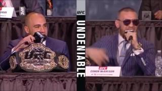 funny eddie alvarez gets owned by a fan at ufc 205 press conference