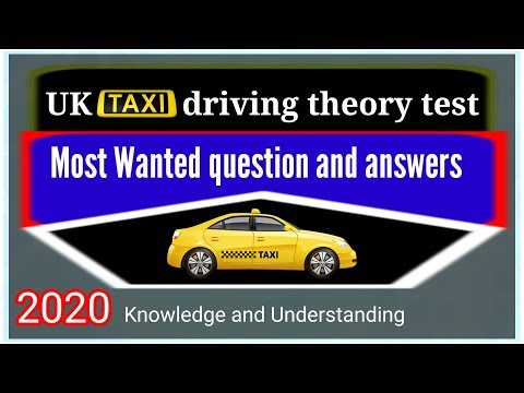 Taxi Driver Theory Test Knowledge And Understanding 2020