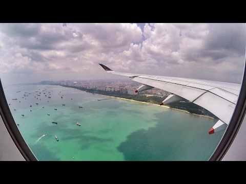 Singapore Airlines A350-900XWB MAJESTIC LANDING in Singapore Changi Airport