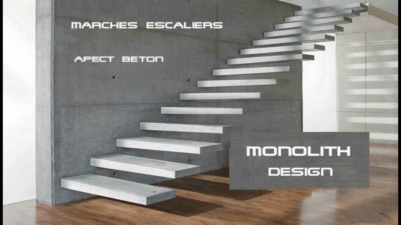 Monolith auskagende treppen escalera suspendida escalera for Escaleras de metal y concreto