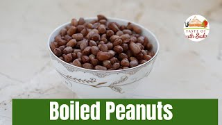 African Boiled Peanuts Snack II Boiled Groundnuts