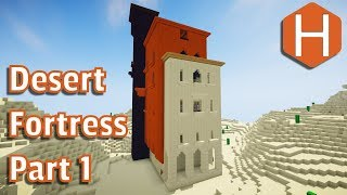 Desert Fortress Hotel Restaurant Part 1 Exterior Minecraft Tutorial