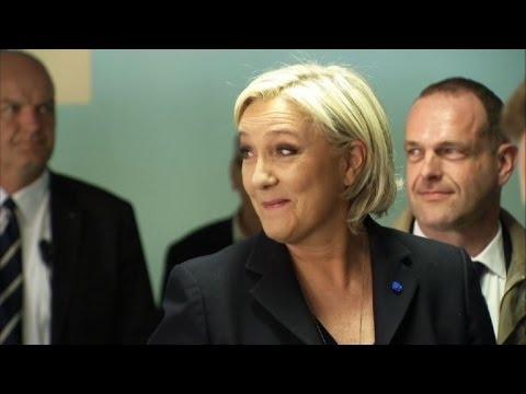 Présidentielle: Marine Le Pen a voté à Hénin-Beaumont