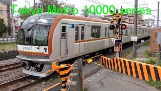 電車 東京メトロ10000系 子供向け踏切動画 railroad crossing japan