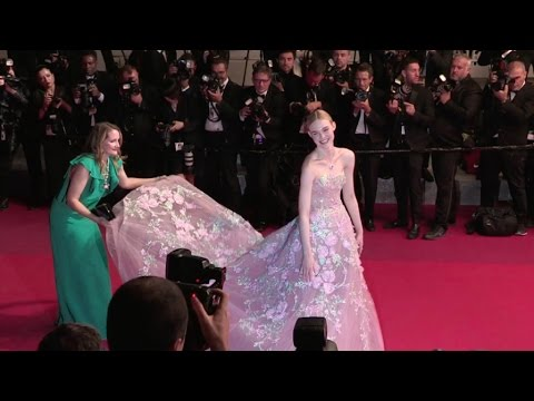 Elle Fanning looks adorable on the red carpet of The Neon Demon at the Cannes Film Festival 2016