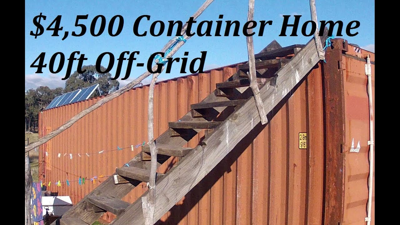 DIY 4500AUD OffGrid 40ft Shipping Container Home