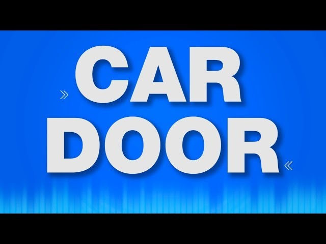 Car Door Slam - SOUND EFFECT - Opening Closing Shutting Autotür öffnen schließen - SOUND