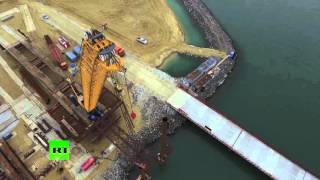 С высоты птичьего полета: грандиозное строительство Керченского моста