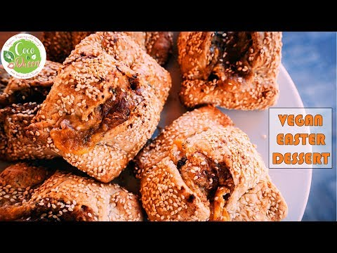 Traditional Cyprus Recipe Flaounes - Vegan Easter Bread