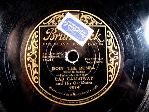 DOIN' THE RUMBA by Cab Calloway and his Orchestra 1931