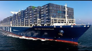 Top 10 Biggest Container Ships Floating on Waves in Ocean