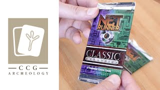 Netrunner CCG Classic Booster Opening/Unboxing - CCG Archeology