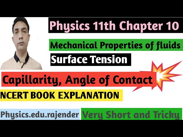 Video 5||Mechanical property of fluids ||Chapter 10||