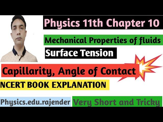 Video 5||Mechanical property of fluids ||Chapter 10||