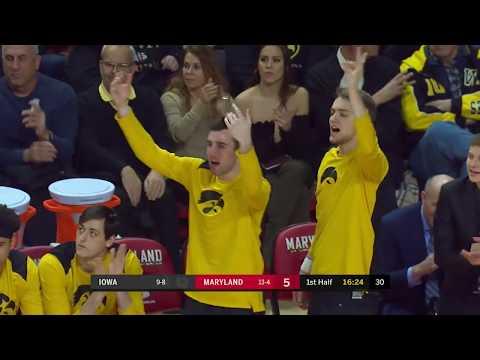 Big Ten Basketball Highlights: Iowa at Maryland