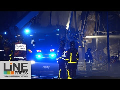 Incendie magasin Lidl (image bank) / Pierrefitte-sur-Seine (93) - France 14 mars 2018
