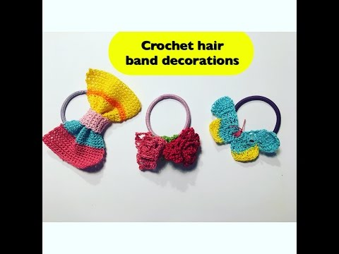 How to crochet hair band decorations