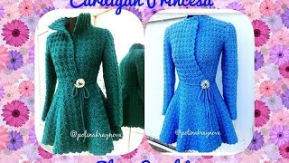 Cardigan Princess In Crochet (part 1) # Elisa Crochet