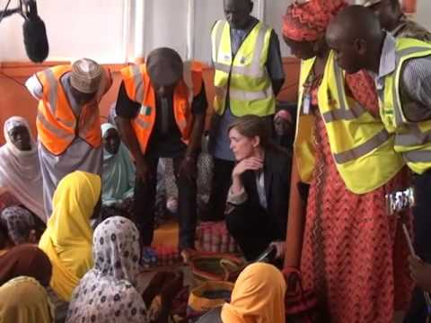 United States Ambassador Visits Internally Displaced Persons Camp