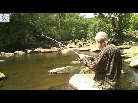 Uncle Steve Fishes Shallow Rocky Pool