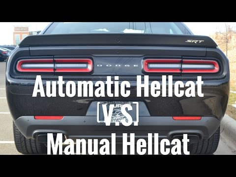 Automatic V.S. Manual ...Why I picked The Automatic Hellcat Over the Manual Hellcat?