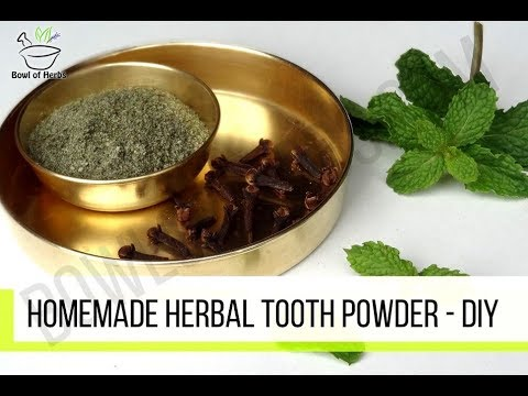 Homemade Herbal Tooth Powder - Natural remedy | Bowl Of Herb