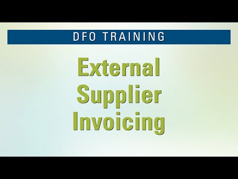 DFO External Supplier Invoicing