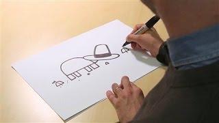 Author Jon Klassen Demonstrates How to Draw a Turtle