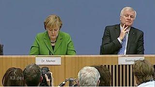 Merkel und Seehofer: Ohne Worte