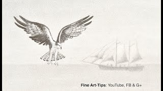 How to Draw the Effect of Distance - Depth of Field - (An Eagle and a Sailing Ship)