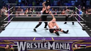 [PS4] WWE 2K15 - The Undertaker vs Brock Lesnar (1080p)(60fps) Epic Match
