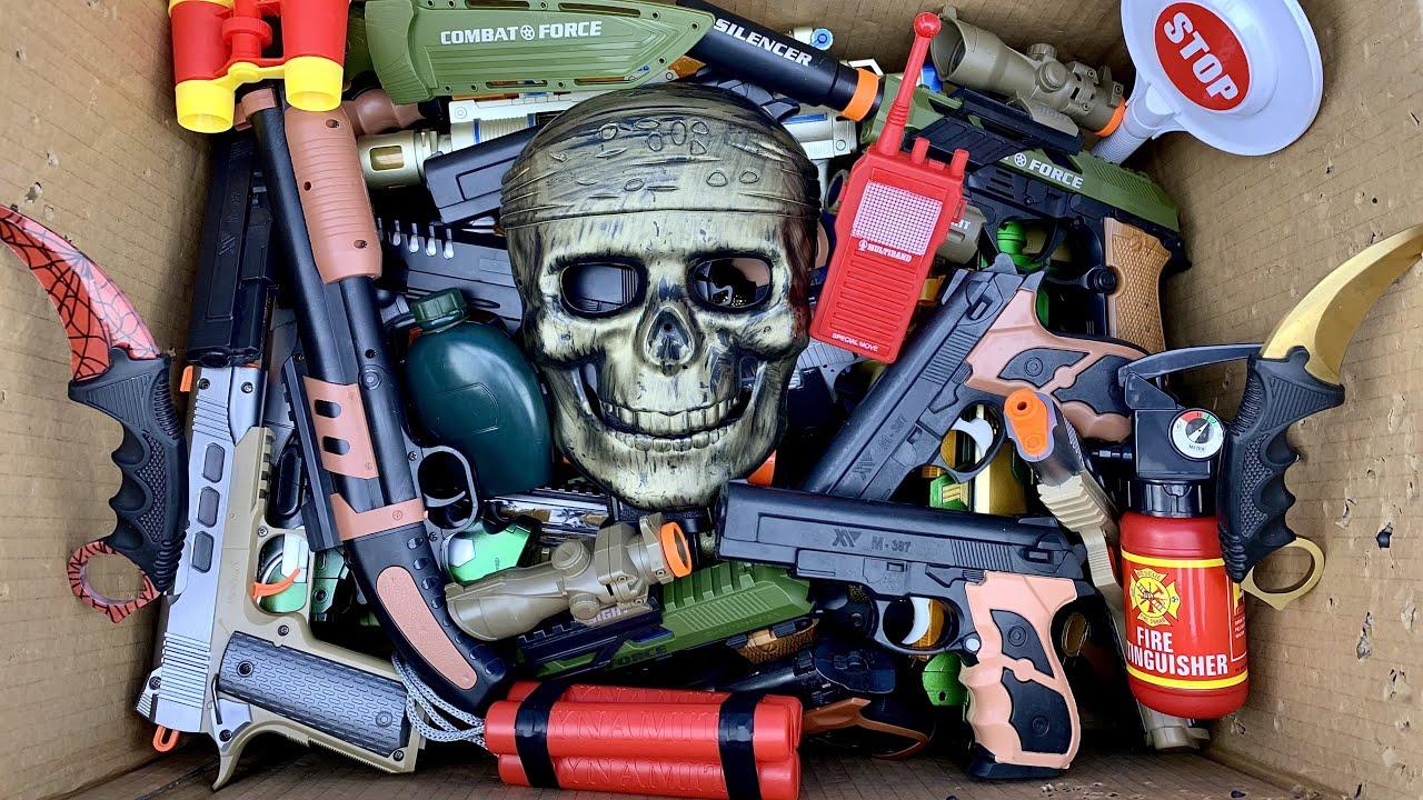 Pirate Custom Weapon Box ! Gun Toys Collection - Box of Guns Toys