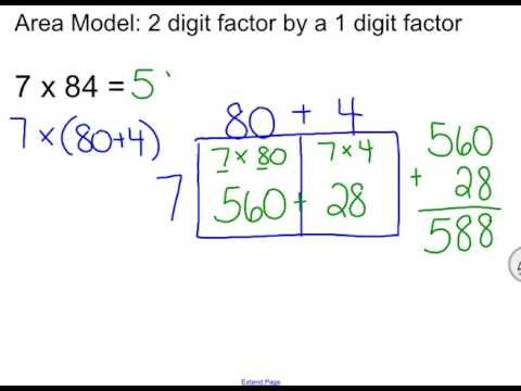 Mrs. Jacobs GOMath! Grade 4: Lesson 2.6 - Area Model (4.NBT.5) - YouTube