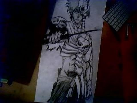 drawing ichigo in skull clad form newest form from movie 4 youtube