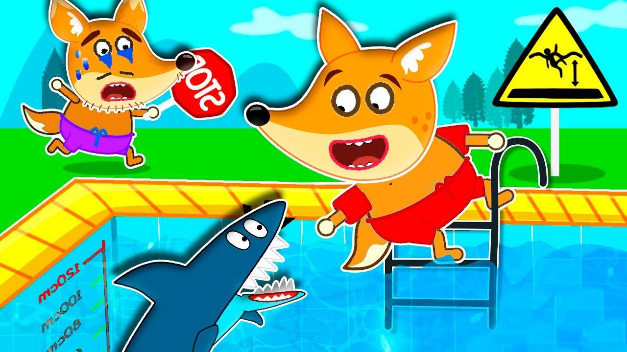 Desenhos de Raposa Em Português Brasil aventuras na piscina - histórias para crianças #209