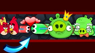 Slither.io - Angry Birds Vs Bad Piggies In Slitherio | New Secret Skin Mods !!