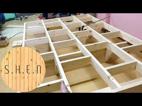 [#ShenWood] Giường hộp tự làm - Diy Platform bed-Part 1