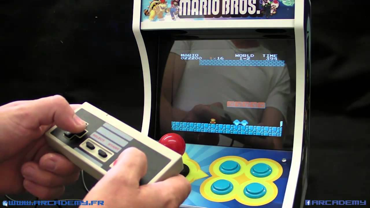 6e0df6aa2a7b2 presentation du mini bartop 1 joueur Arcademy Theme Mario et Luigi ...