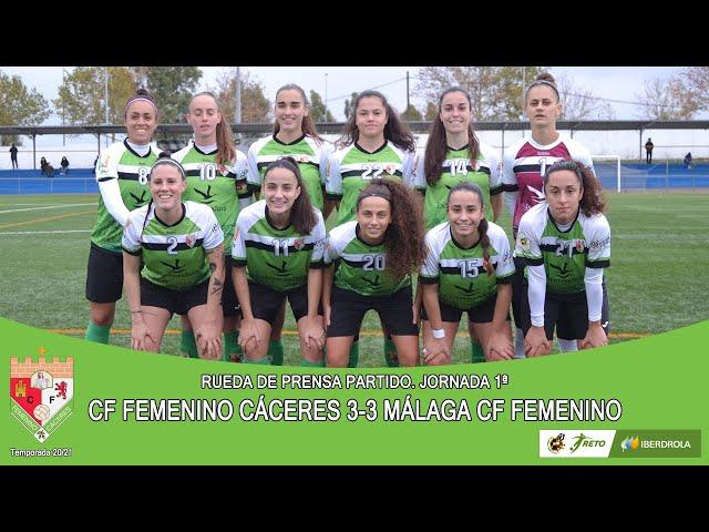 Liga #RetoIberdrola 20/21. Jornada 1ª Rueda de prensa: CF FEMENINO CÁCERES - MÁLAGA CF FEMENINO