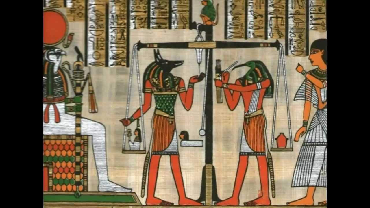 El papiro en egipto youtube for Mural egipcio